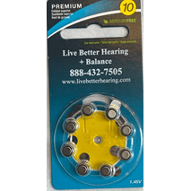 10 Hearing Aid Batteries