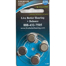 675 Hearing Aid Batteries