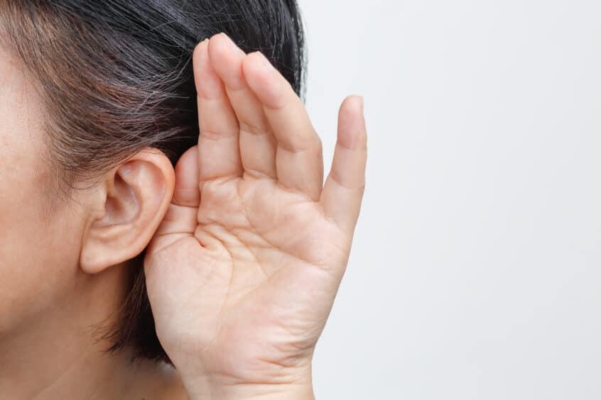 Woman Hearing Loss